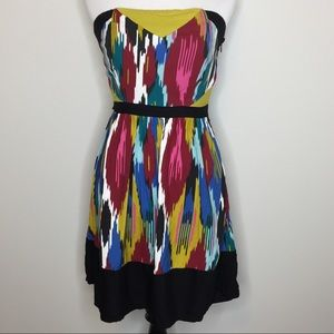 UO Silence + Noise Strapless Aztec Dress | Small